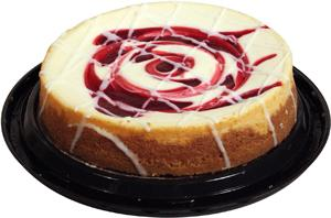 """7"""" White Chocolate Raspberry Cheesecake"""