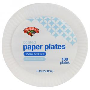 """Hannaford 9"""" Coated Paper Plates"""