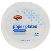 "Hannaford 9"" Coated Paper Plates"