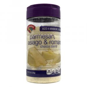 Hannaford Grated Parmesan Asiago & Romano Cheese