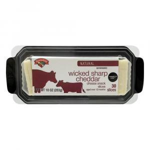 Hannaford Wicked Sharp Cheddar Cheese Snack Slices