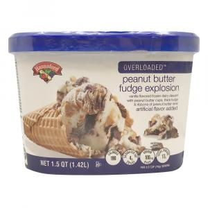 Hannaford Overloaded Peanut Butter Fudge Explosion Ice Cream
