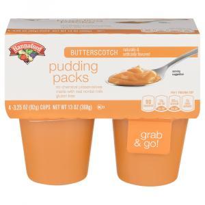 Hannaford Butterscotch Pudding Packs