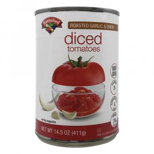 Hannaford Diced Tomatoes With Roasted Garlic & Onions