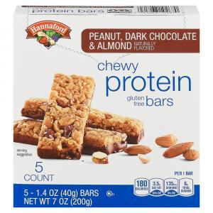 Hannaford Peanut, Dark Chocolate & Almond Protein Bars
