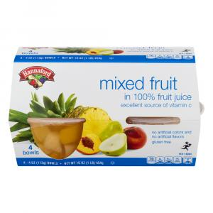 Hannaford Mixed Fruit in 100% Fruit Juice Bowls