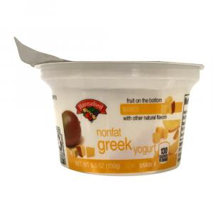 Hannaford Greek Nonfat Mango Yogurt