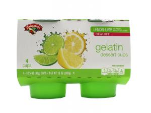 Hannaford Sugar Free Lemon-Lime Gelatin Dessert Cups