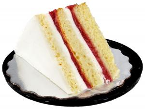 Triple Strawberry Cake Slice