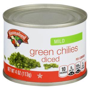 Hannaford Mild Diced Green Chilies