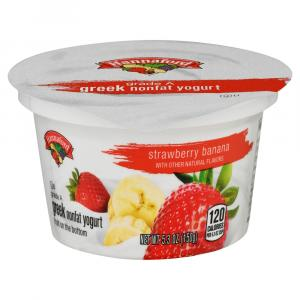 Hannaford Greek Nonfat Strawberry Banana Yogurt