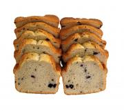 Sliced Blueberry Pound Cake