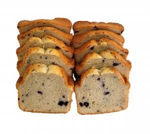 Sliced Blueberry Pound Cake