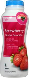 Hannaford Nonfat Strawberry Smoothie