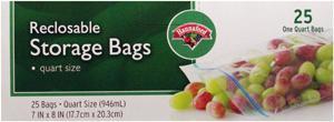 Hannaford Quart Food Storage Bags