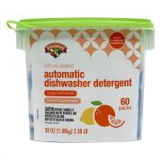 Hannaford Citrus Scent Dishwasher Detergent Packs