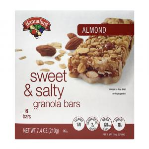 Hannaford Sweet & Salty Almond Bars