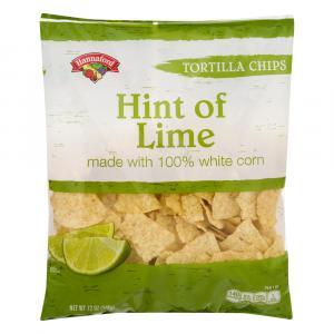 Hannaford Hint Of Lime Tortilla Chips