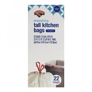 Hannaford Drawstring 13-gallon Tall Kitchen Bags