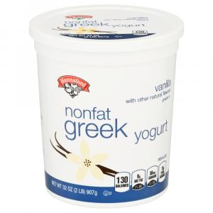 Hannaford Vanilla Nonfat Greek Yogurt