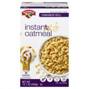 Hannaford Cinnamon Roll Instant Oatmeal