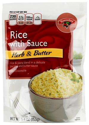 Hannaford Rice With Sauce Herb & Butter