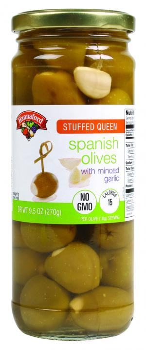 Hannaford Stuffed Queen Spanish Olives with Minced Garlic