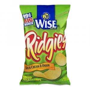 Wise Sour Cream & Onion Ridgies Potato Chips