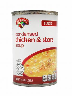 Hannaford Classic Condensed Chicken & Star Soup