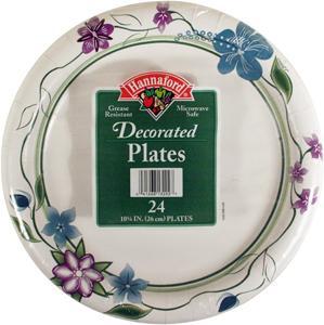 """Hannaford 10 1/4"""" Designer Plates"""