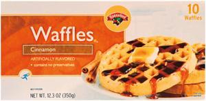 Hannaford Cinnamon Waffles