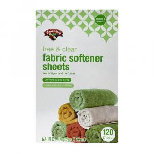 Hannaford Free & Clear Fabric Softener Sheets