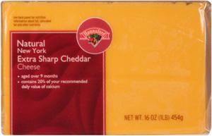 Hannaford New York Extra Sharp Yellow Cheddar Bar Cheese