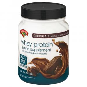 Hannaford Whey Protein Chocolate Blend Supplement