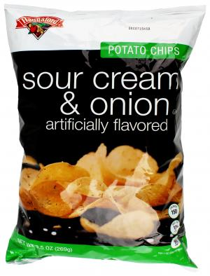 Hannaford Sour Cream and Onion Potato Chips