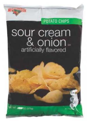 Hannaford Sour Cream and Onion Potato Chips