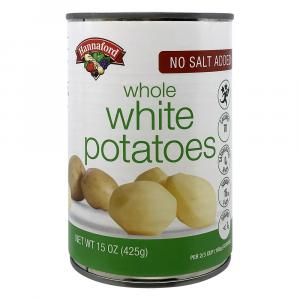 Hannaford No Salt Added Whole White Potatoes