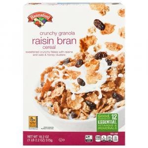 Hannaford Crunchy Granola Raisin Bran Cereal