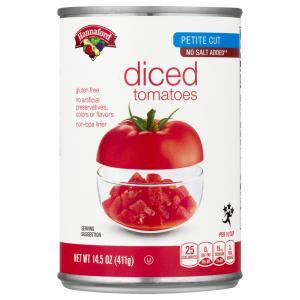 Hannaford No Salt Added Petite Diced Tomatoes