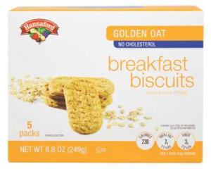 Hannaford Golden Oat Breakfast Biscuits