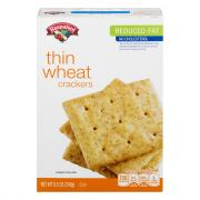 Hannaford Reduced Fat Thin Wheats Crackers