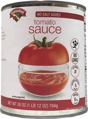 Hannaford No Salt Added Tomato Sauce