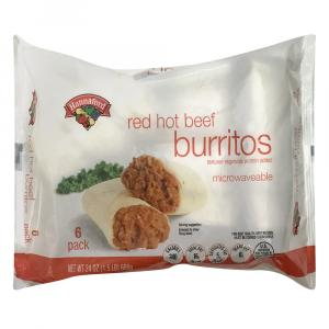 Hannaford Red Hot Beef Burritos