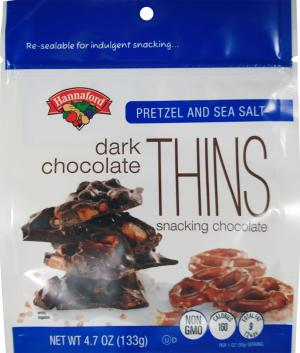 Hannaford Pretzel And Sea Salt Dark Chocolate Thins