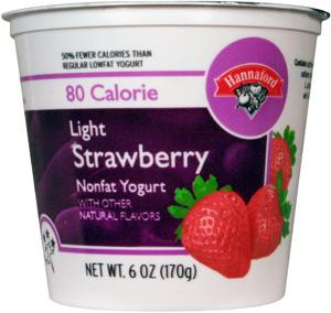 Hannaford Light 80 Calories Strawberry Yogurt