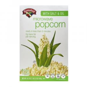Hannaford Microwave Popcorn with Salt & Oil