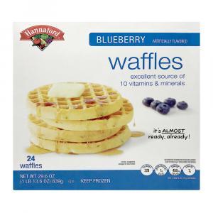 Hannaford Blueberry Waffles