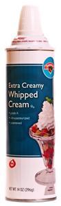 Hannaford Extra Creamy Whipped Cream Aerosol Can