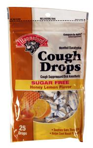 Hannaford Sugar Free Honey Lemon Cough Drops