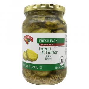 Hannaford No Salt Added Bread & Butter Pickle Chips